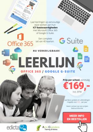 Leerlijn Office 365 en G-Suite for Education