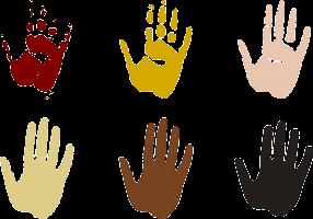afdrukken van handen