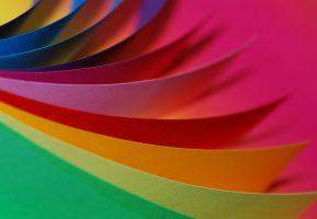 papier in verschillende kleuren