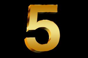 gouden cijfer 5