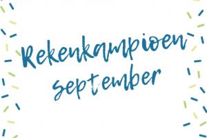 tekst: rekenkampioen september
