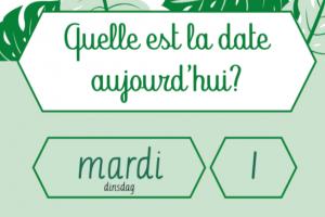 datum in het Frans