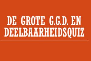 tekst op een oranje achtergrond: ggd en deelbaarheidsquiz