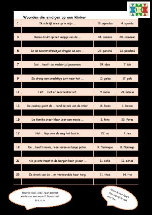 Voorbeeld uit: Woorden die eindigen op een klinker (2).docx