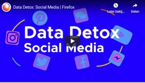 Het logo van de video Data Detox Sociale Media.