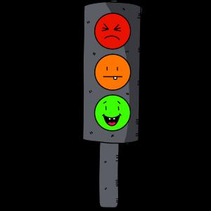 verkeerslicht met gezichtjes