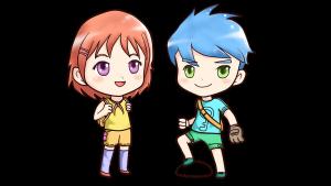 twee anime figuren