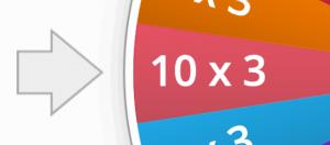 schermafbeelding keuzewiel, 10 x 3