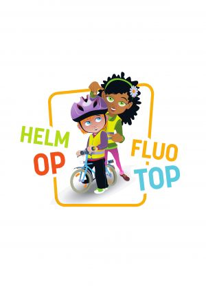 Logo Helmet On Fluo Top