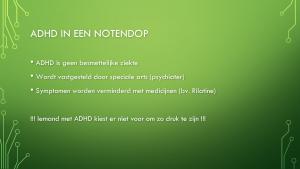 Voorbeeld uit: SOT ADHD Tine Gacoms infomoment.pptx