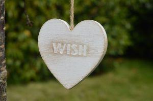 Hartje met het woord wish