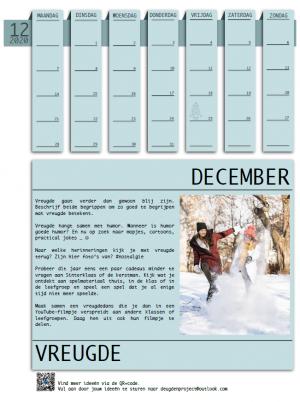 voorbeeld van de maand december