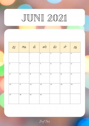 Voorbeeld uit: kalender schooljaar 2020-2021.pdf