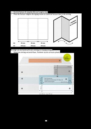 Voorbeeld uit: Project economie en organisatie