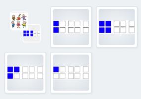 schermafbeelding: getalbeelden combineren met poppetjes