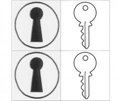 Twee sleutelgaten en twee sleutels