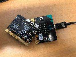 Afbeelding van een Micro:bit minincomputer