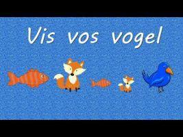Screenshot video met afbeeldingen van vis, vos, vogel