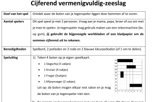 Voorbeeld uit: ACT01_cijferend_vermenigvuldig_zeeslag.docx