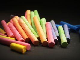 Krijt in verschillende kleuren