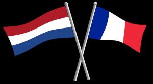 Franse en Nederlandse vlag