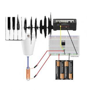 Afbeelding van elektronische schakeling