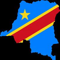 kaart van Congo