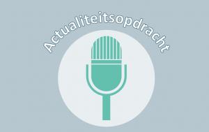 microfoon met actualiteitsopdracht