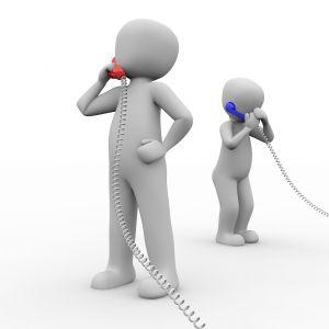mannetjes die telefoneren