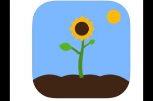 logo van de app - een groeiende bloem