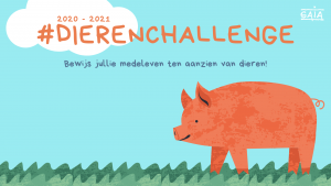 logo van de #dierenchallenge (GAIA educatie)