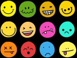 verschill gevoelens emoji's