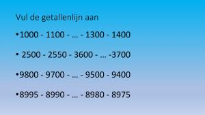 Voorbeeld uit: Getallenkennis quiz tot 10 000.pptx