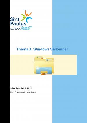 Voorbeeld uit: Thema 3 - Windows Verkenner.docx