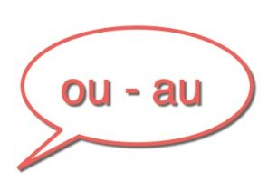 tekstballon: au of ou