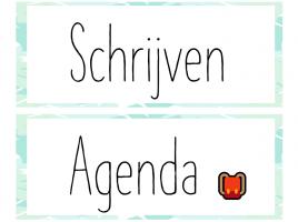 Deel uit de bijdrage dagritmekaarten met onderwerpen schrijven en agenda
