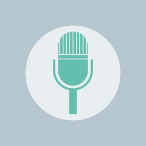 Het pictogram voor een microfoon.