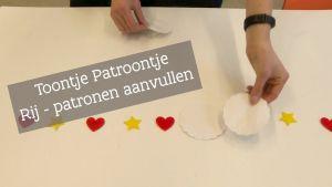 Screenshot video met titel: rij - patronen aanvullen