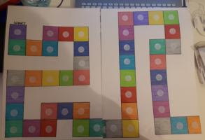 Foto van het kleurrijke bordspel