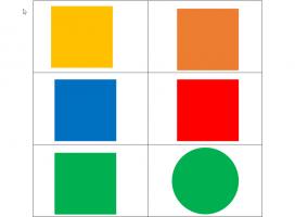 Verschillende vormen in verschillende kleuren