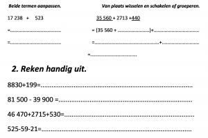 Voorbeeld uit: Wiskunde voorbereiding herhalingsoefeningen blok 1 toets hoofdrekenen.rtf