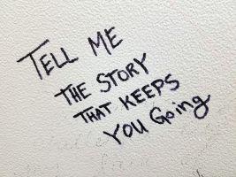 tekstje over verhalen vertellen