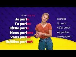 Voorbeeld van video 'Franse werkwoorden op -er vervoegen'