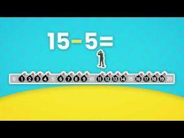 Voorbeeld van video 'Springen op de getallenlijn met sprongen van 2 en 5'