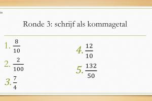 Voorbeeld uit: Quiz kommagetallen.pptx