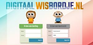 Screenshot startpagina Digitaal wisbordje