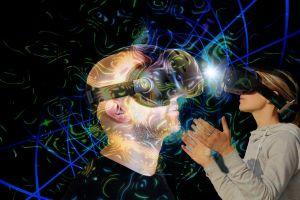 Twee personen met VR-bril op