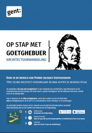 """Logo van de wandeling """"Op stap met Goetghebuer"""" van Archief Gent"""
