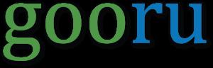 Logo Gooru in groene en blauwe kleur