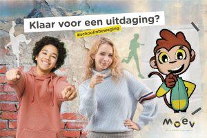 Poster 'Klaar voor een uitdaging?' met twee tieners en LUUK